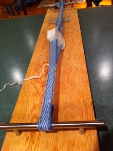 card weaving loom in action