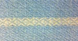 blue wool diamond twill
